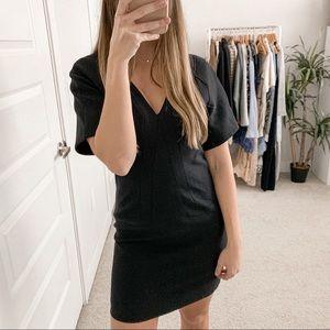 Helmut Lang V-Neck Mini Dress Black